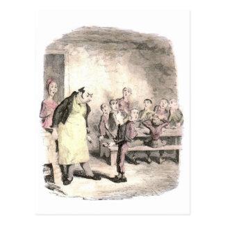 Oliver Twist pide más Postal