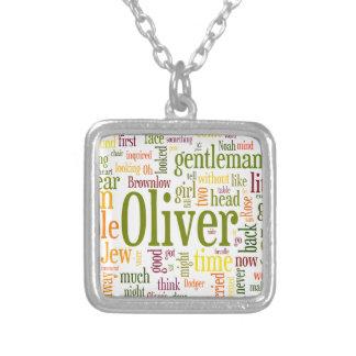 Oliver Twist Square Pendant Necklace