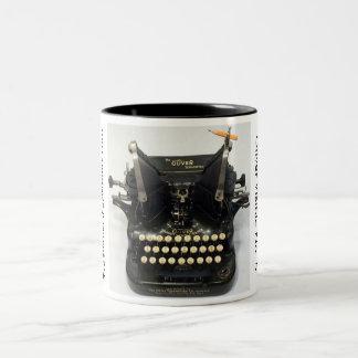 Oliver Visible No. 5 typewriter Two-Tone Coffee Mug