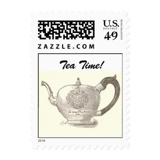 Oliver Wendell Holmes Teapot Postage Stamp- Small
