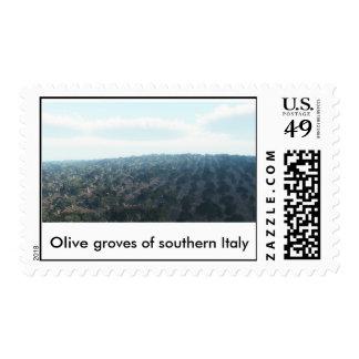 Oliveraie d'Italie du sud(F), Olive groves... Postage Stamp