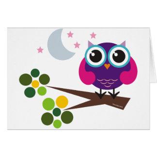 Oliverio, el búho tarjeta de felicitación