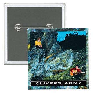 Olivers Army EP Cover Badge 2 Inch Square Button