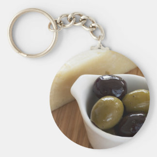 Olives and Cheese Keychain