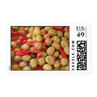 Olives and Chillies Postage Stamp