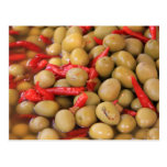 Olives and Chillies Postcard Post Card