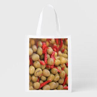 Olives and Chillies Reusable Bag Reusable Grocery Bags