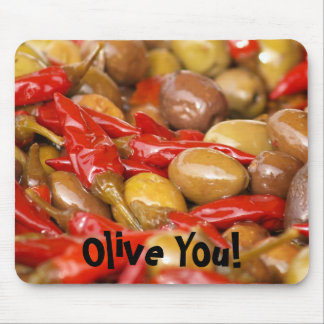 olives and jalepenos, Olive You! mousepad