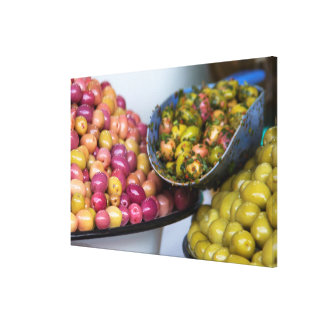 Olives At Market Canvas Print