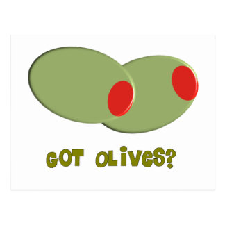 "Olives Design Gifts ""Got Olives?"" Postcards"