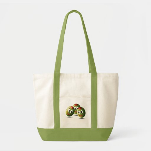 Olives filled with smile canvas bags