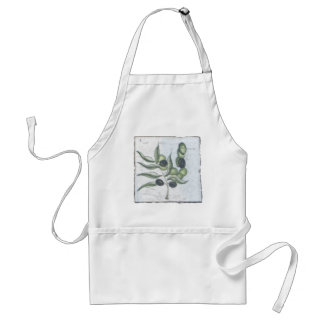 Olives~ Handcrafted Courtyard Tile, Italy Adult Apron