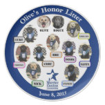 Olive's Honor Litter Collectable Plate