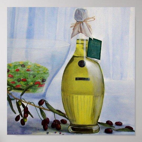 Olives & Oil. Poster