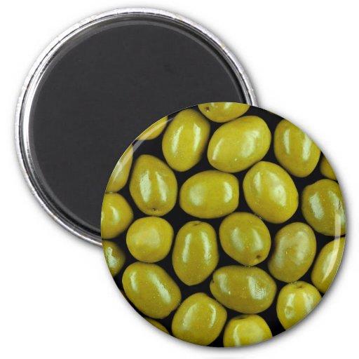 Olives texture refrigerator magnets