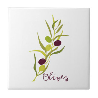 Olives Small Square Tile