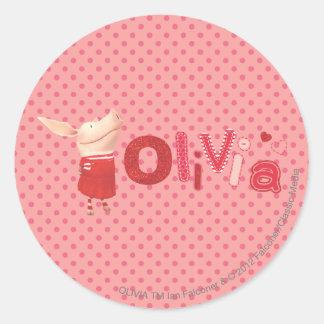 Olivia - 1 pegatina redonda