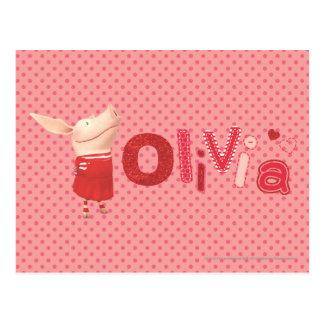 Olivia - 1 tarjeta postal