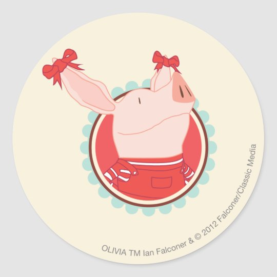 Olivia - 2 classic round sticker