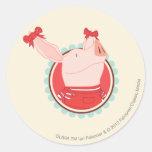 Olivia - 2 round sticker