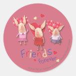 Olivia - amigos para siempre etiquetas redondas