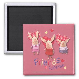 Olivia - amigos para siempre imán cuadrado