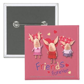 Olivia - amigos para siempre pin cuadrada 5 cm