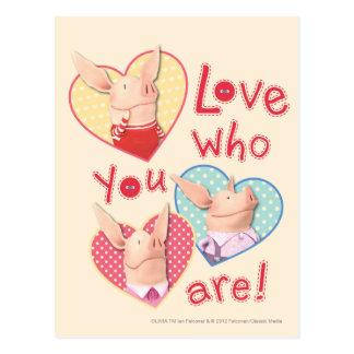 Olivia - amor que usted es tarjetas postales
