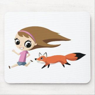 Olivia and Cheddar the Fox Mouse Pad