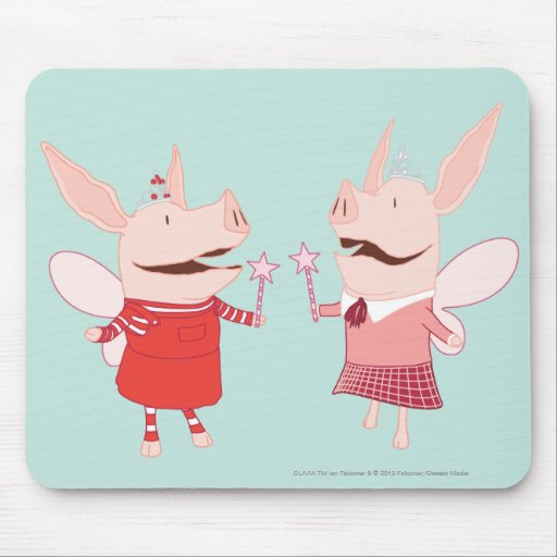 Olivia and Francine - Fairy Mouse Pads