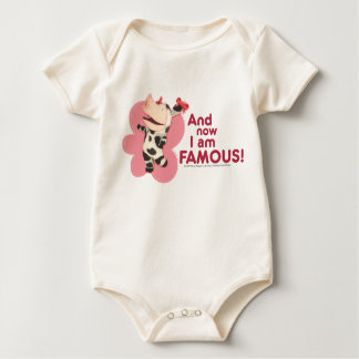 Olivia - And now I am Famous Baby Bodysuit