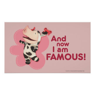 Olivia - And now I am Famous Poster