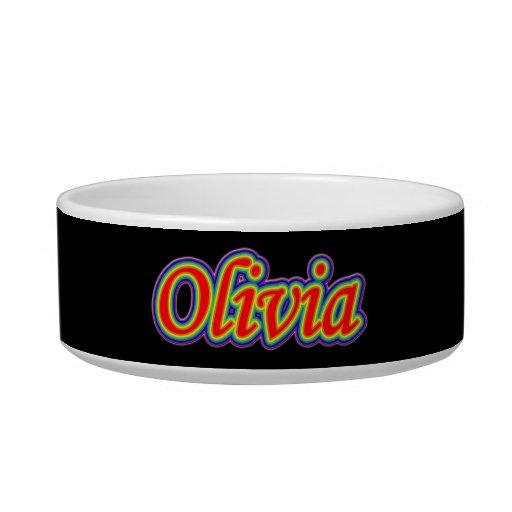 Olivia - arco iris - en negro tazones para comida para gato