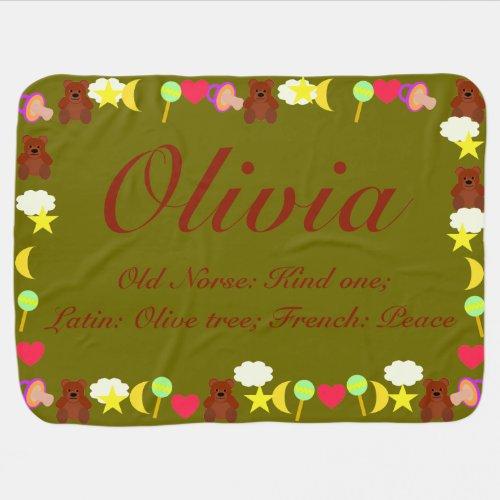 Olivia Baby Blanket Template