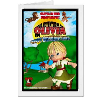 Olivia Birthday Card DVD box spoof