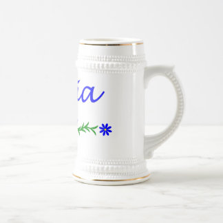 Olivia (Blue Butterfly) Beer Stein