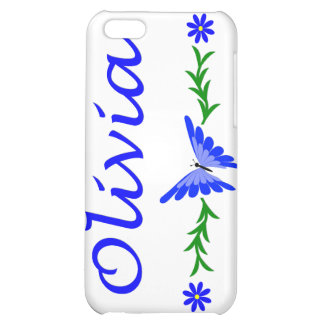 Olivia (Blue Butterfly) iPhone 5C Cases