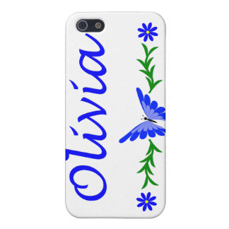 Olivia (Blue Butterfly) iPhone SE/5/5s Cover