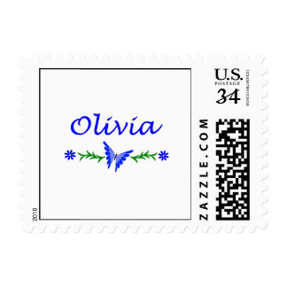 Olivia Blue Butterfly Stamps