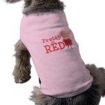 Olivia - bonito en rojo playera sin mangas para perro
