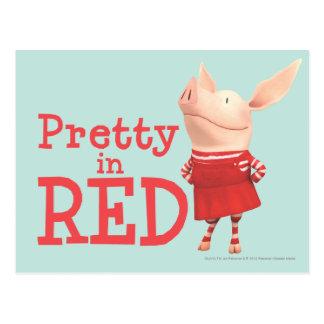 Olivia - bonito en rojo postal