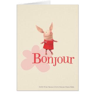 Olivia - Bonjour Greeting Card