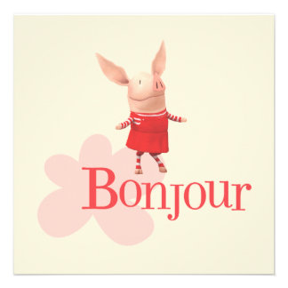 Olivia - Bonjour Custom Invites