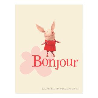 Olivia - Bonjour Postcard