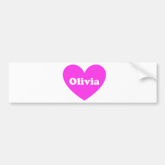 Olivia Etiqueta De Parachoque