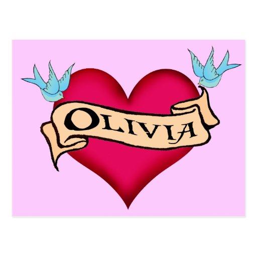Olivia - camisetas y regalos de encargo del postales