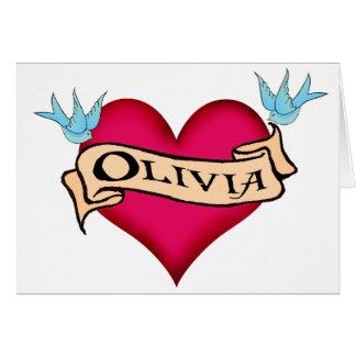 Olivia - camisetas y regalos de encargo del tarjeta de felicitación