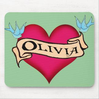 Olivia - camisetas y regalos de encargo del tatuaj tapete de ratones