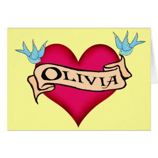Olivia - camisetas y regalos de encargo del tatuaj felicitacion