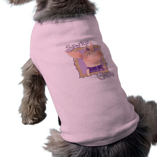 Olivia - chispa a montones playera sin mangas para perro